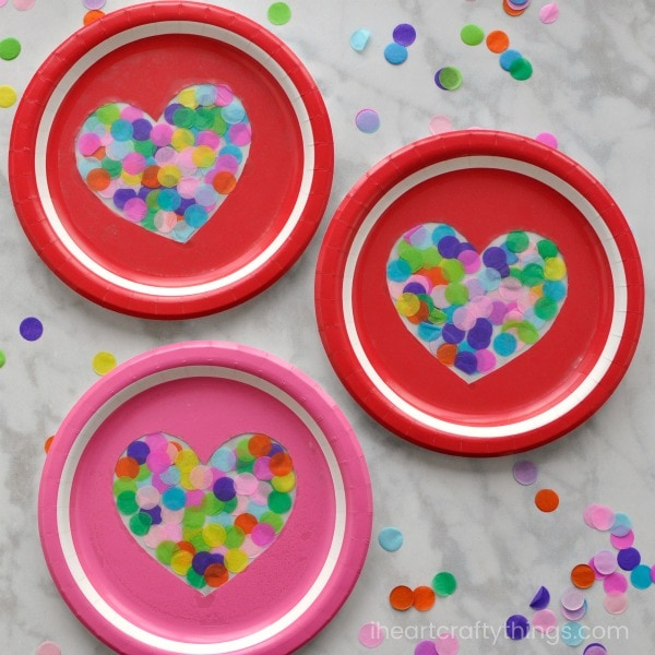 Colorful Heart Suncatcher Craft | I Heart Crafty Things
