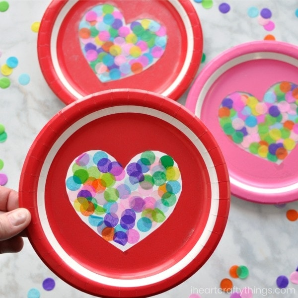 colorful heart suncatcher craft i heart crafty things