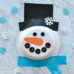 Paper Bowl Snowman Craft