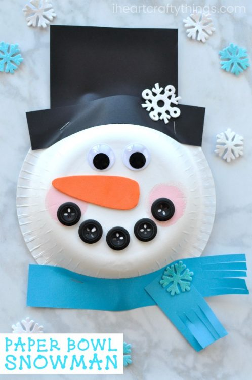 Paper Bowl Gives The Snowman A Fun 3 D Effect This Cute Craft Would Be Adorable Up On Classroom Bulletin Board Display For Winter