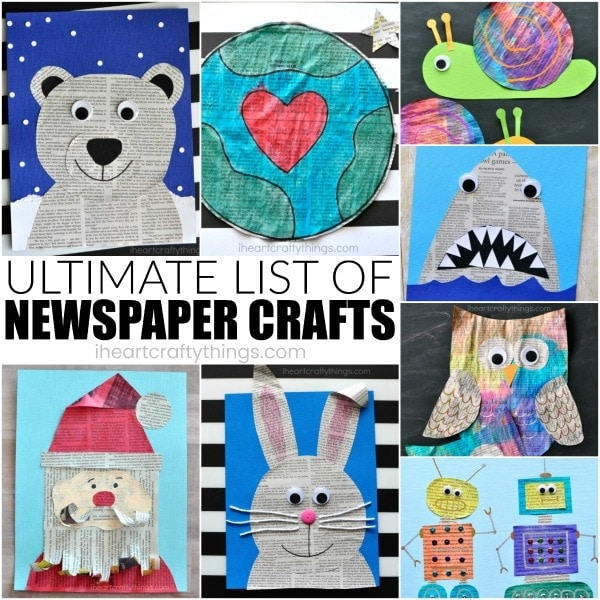 Ultimate List Of Newspaper Craft Ideas I Heart Crafty Things