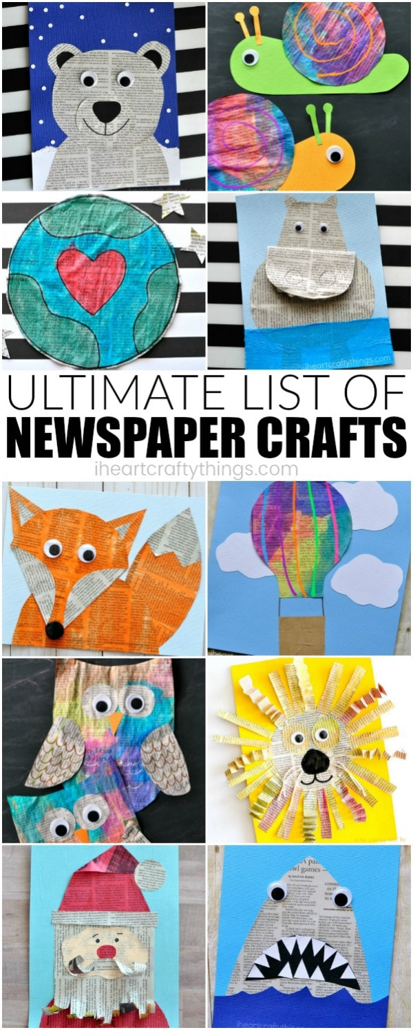 Ultimate List Of Newspaper Craft Ideas