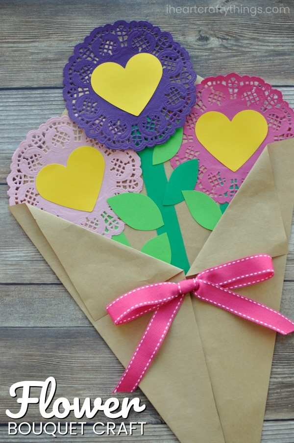 Valentines Day Paper Flowers Craft I Heart Crafty Things