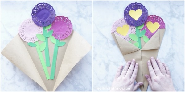 Valentine S Day Paper Flowers Craft I Heart Crafty Things