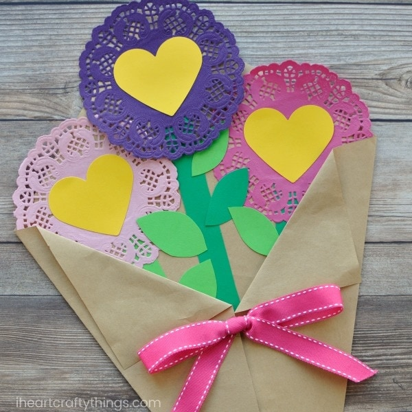 How To Make A Valentine S Day Paper Flowers Craft