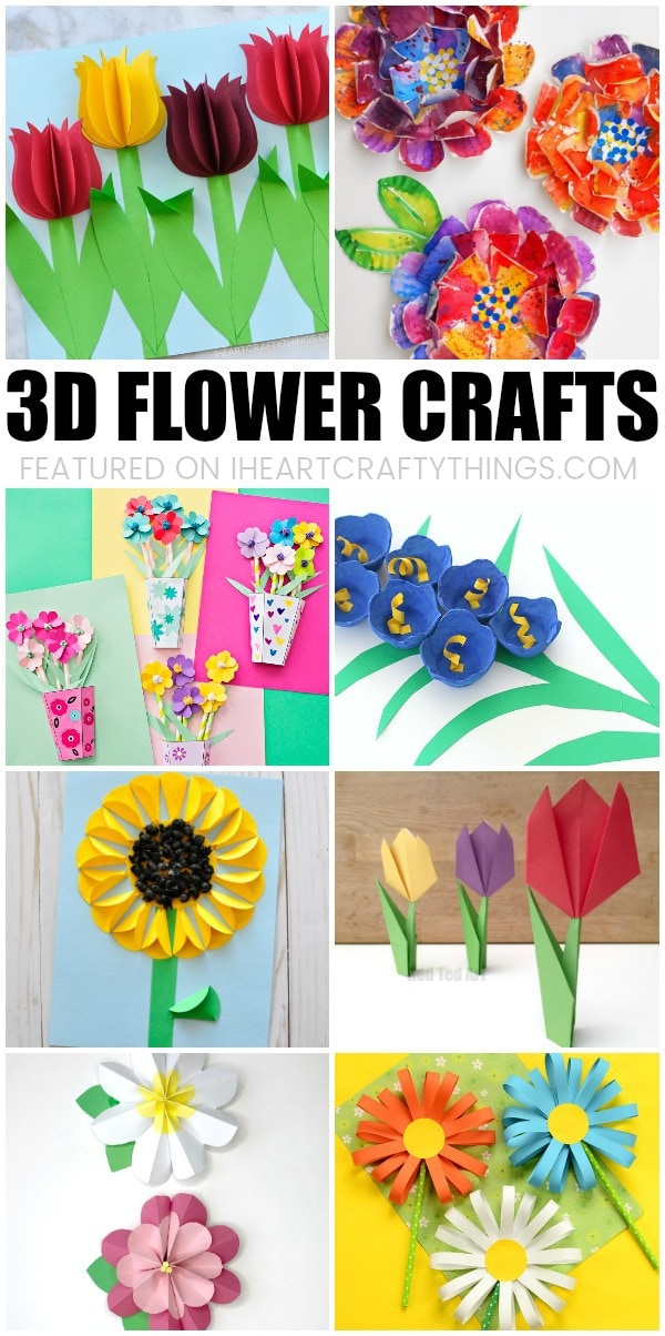 Beautiful 3d flower crafts for kids i heart crafty things looking for more spring crafting ideas like these 3d paper flowers mightylinksfo