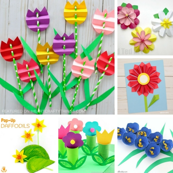 Beautiful 3d Flower Crafts For Kids I Heart Crafty Things