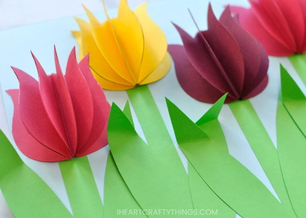 Gorgeous 3d paper tulip flower craft i heart crafty things looking for more gorgeous flower crafts mightylinksfo