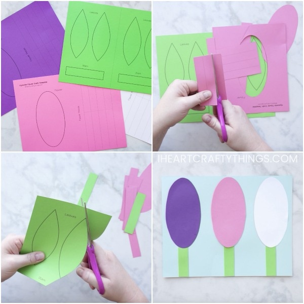 How to make paper hyacinth flowers i heart crafty things prepare the flower petals use a glue stick to add some glue at the end of the flower petal rectangle then fold the rectangle into a circle and glue the mightylinksfo