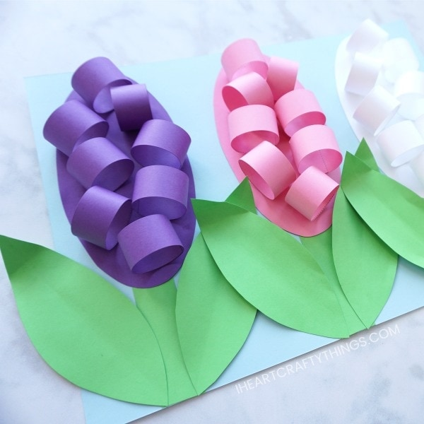 How to make paper hyacinth flowers i heart crafty things how to make paper hyacinth flowers mightylinksfo
