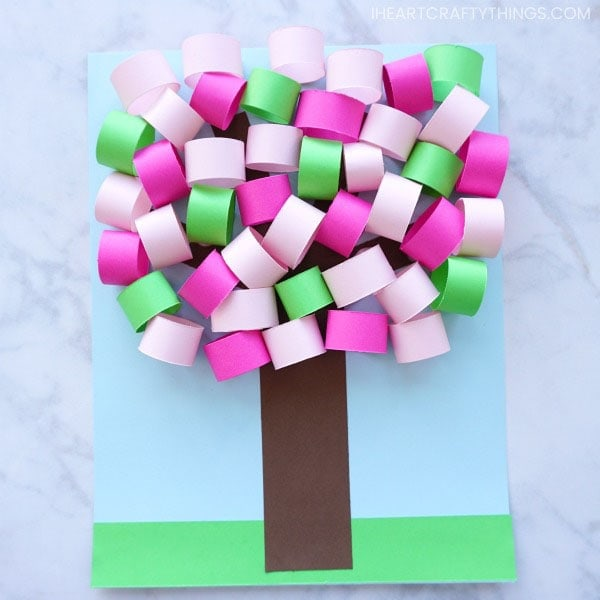How To Make A 3d Spring Paper Tree Craft