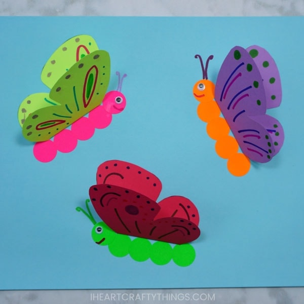 How To Make A 3d Paper Butterfly Craft I Heart Crafty Things