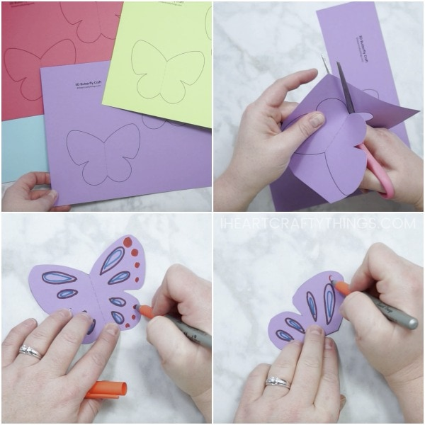 How To Make A 3D Paper Butterfly Craft