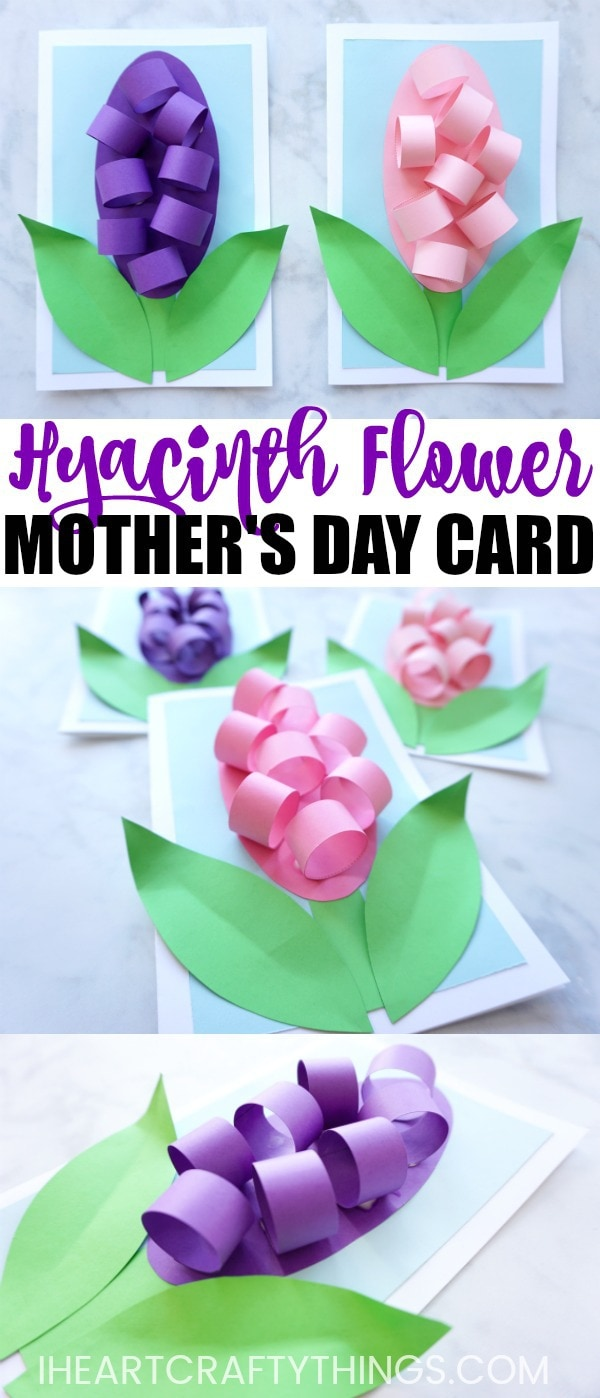 Hyacinth Flower Mother 39 S Day Card Idea I Heart Crafty Things