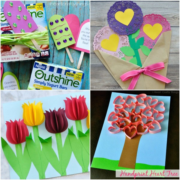 Here S A Unique Popsicle Card That Goes Perfectly With Mom Favorite Icy Treat As Mother Day Gift Kids Will Love Customizing The Front Of Their Cards