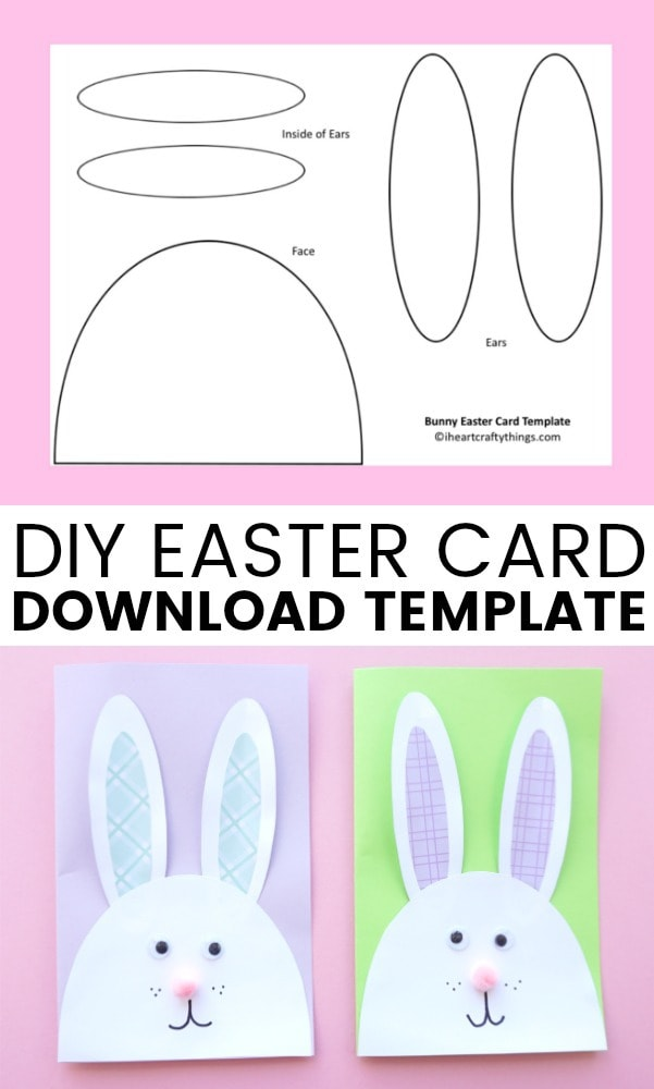 Cutest Bunny Diy Easter Card  I Heart Crafty Things
