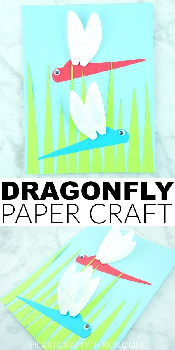 How To Make A Paper Dragonfly Craft I Heart Crafty Things