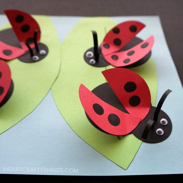 how to make a paper ladybug craft i heart crafty things