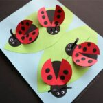 If you have ladybug fans in your home, they are going to adore making this simple paper ladybug craft. The fingerprint spots on the ladybug wings gives this fun spring craft a personal touch. Kids will adore how the wings pop off the page as if the ladybugs are in flight. This makes a fun insect craft for kids.
