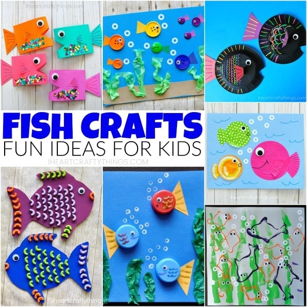 Here are 10 fun fish crafts for kids that are simple to make, are colorful and work great any time of the year, especially for summer kid crafts. Find paper fish crafts, paper plate fish crafts and mixed media fish art projects for kids to enjoy.