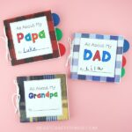 Did you know you can make a cute little book out of paper lunch bags? See how we turned three paper bags into a darling DIY Father's Day book. Use our templates to customize your Father's Day book for dad, grandpa or papa. This DIY Father's Day book is a special keepsake dad, grandpa or papa will treasure forever.