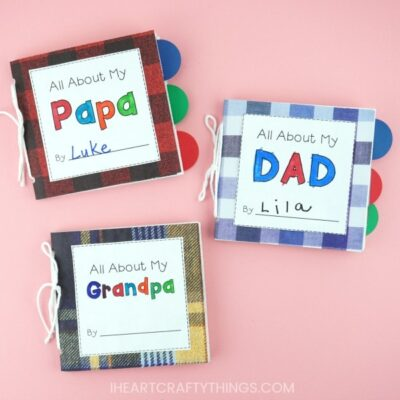 Paper Bag DIY Father's Day Book