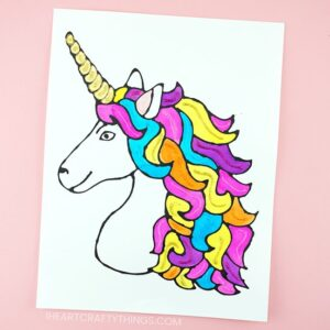 How to Make a Black Glue Unicorn Art Project