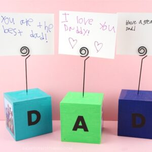 These simple DIY Photo Blocks make perfect gifts, especially for Father's Day. See how easy these DIY photo blocks are to make. Dad or Grandpa can place them on their desk at home or work as a special reminder of how much they are loved.