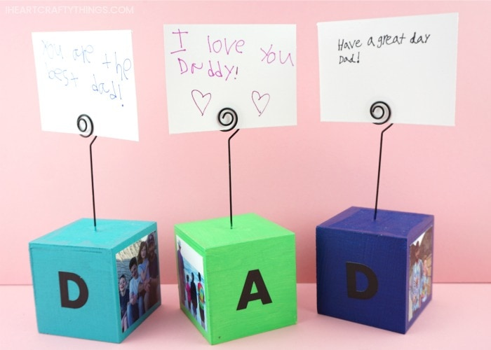 Simple Diy Photo Blocks For A Fathers Day Gift I Heart Crafty Things