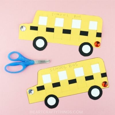 Paper Weaving School Bus Craft