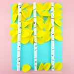 Make this beautiful paper aspen tree art project for a fall art project. This aspen art project is sure to look gorgeous on display as a fall kids craft.