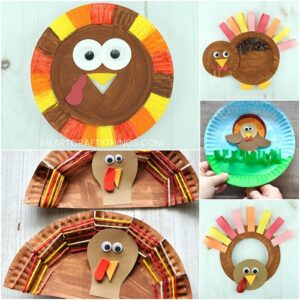 These paper plate Thanksgiving crafts are simple, fun and perfect for Thanksgiving arts and crafts time. Fun paper plate turkey crafts for kids.