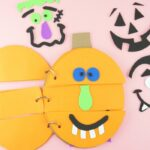 Have a giggly good time making this silly pumpkin faces flip book for Halloween. Fun Halloween activity for kids and Halloween kids craft.