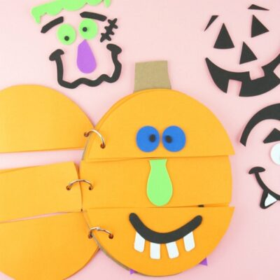 Silly Pumpkin Faces Flip Book