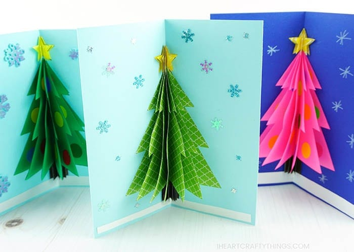 Get crafty this holiday season by making a 3D Christmas Card. Learn how to make this DIY Christmas card with our helpful template, step-by-step tutorial and video.