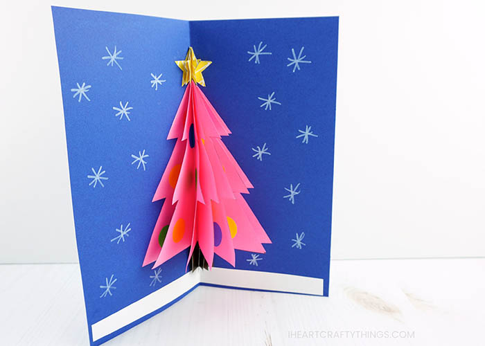 How To Make A 3d Christmas Card I Heart Crafty Things