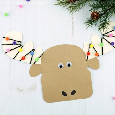 The Cutest Christmas Moose Craft