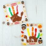 The Cutest Framed Handprint Turkey Craft!
