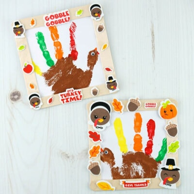 The Cutest Framed Handprint Turkey Craft!