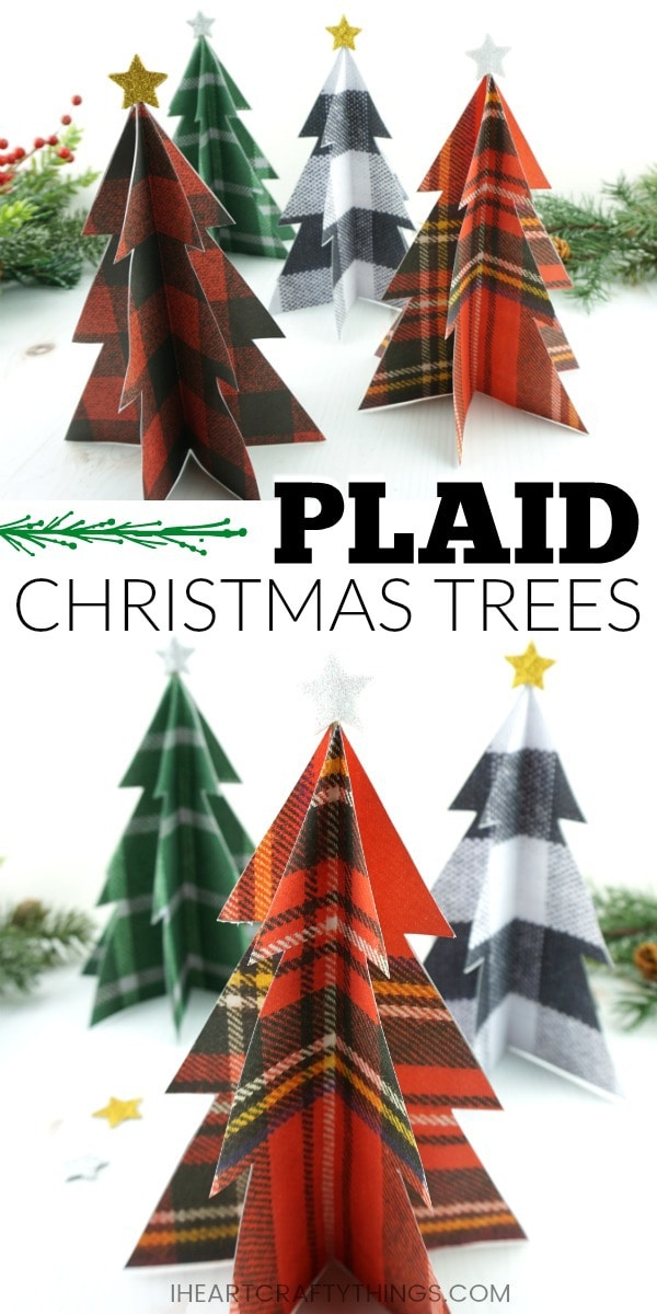 Plaid Christmas Tree Craft