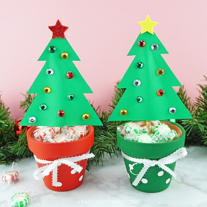 Christmas Tree Craft.Terracotta Christmas Tree Craft