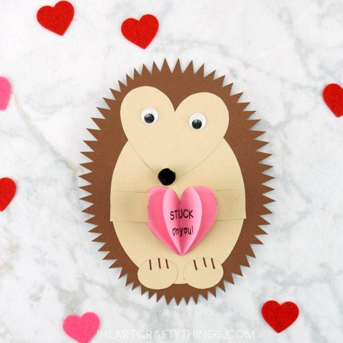 The Cutest Hedgehog Valentine Craft