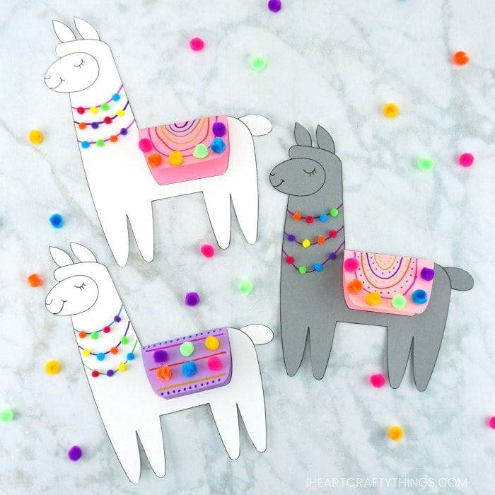 Grab our free template to make this Llama Valentine Craft for kids. It's makes a fun Valentine Card and Mother's Day card for kids to make.