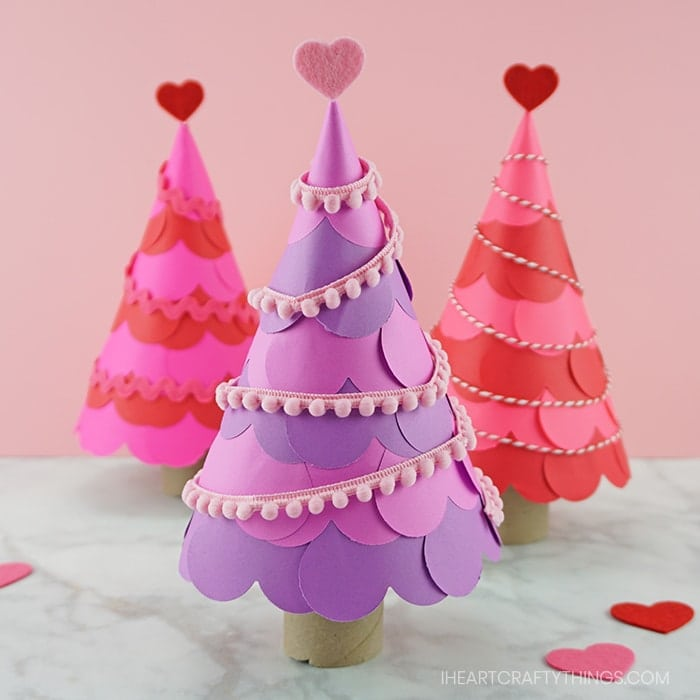 How To Make A Heart Tree Paper Craft
