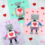 Download the free template and create this simple and cute Robot Valentine Craft. Fun kid-made Valentine Card and robot craft for kids.