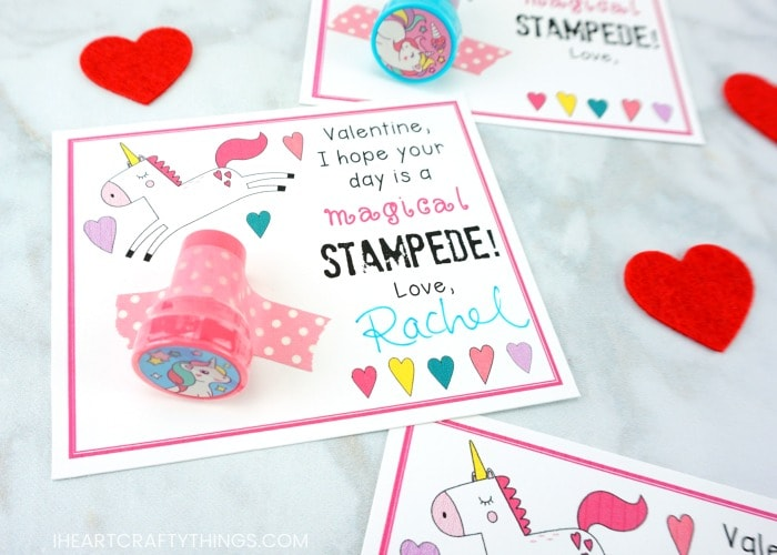 photo about Printable Valentine Cards for Classmates named Printable Unicorn Valentine Playing cards