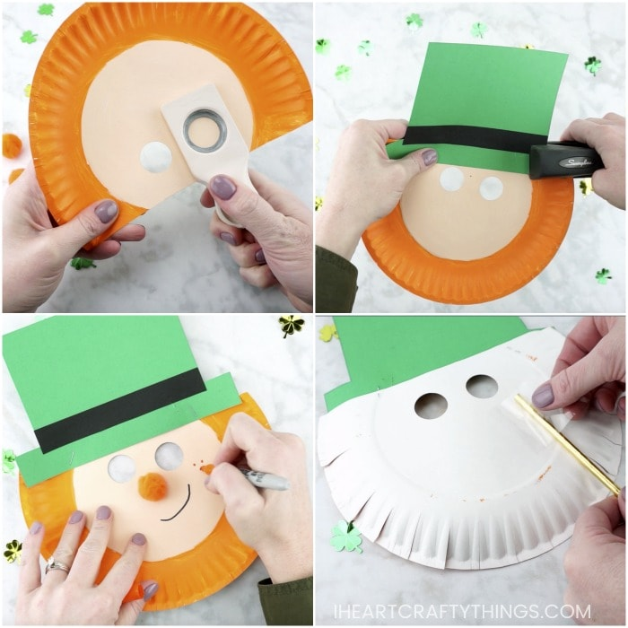 How To Make An Easy And Simple Leprechaun Mask Out Of A Paper Plate