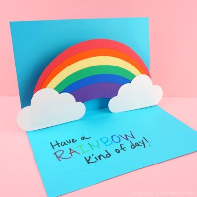 How to Make an easy pop up Rainbow Card