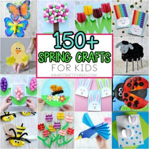Spring crafts for Kids - Art and craft project ideas. Paper flower crafts, insect crafts, Easter crafts, spring craft ideas with simple craft supplies.
