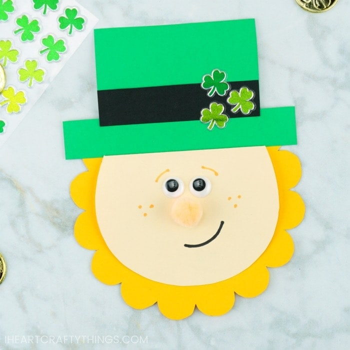 picture relating to Free Printable Cards for Kids identify Absolutely free Printable St. Patricks Working day Card